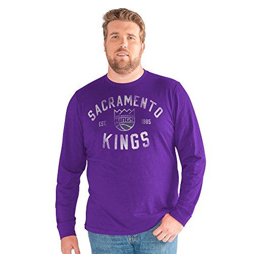 G-III Sports NBA Sacramento Kings Big Man Bank Shot Long Sleeve Top, 4X, Purple from G-III Sports