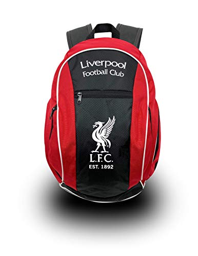 Liverpool FC Backpack, Official Liverpool School, Mochila, Book Bag Cinch, Shoe Bag, Soccer Ball ()