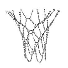 MagiDeal Heavy Duty Metal Chain Link Basketball Net for Standard Indoor or Outdoor Basketball Hoop Rim Silver