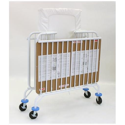 LA-Baby-Deluxe-Holiday-Mini Portable-Folding-Metal-Crib-White