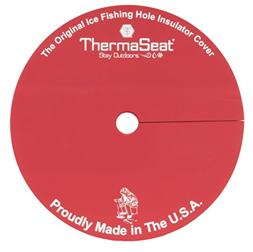 THERM-A-SEAT Ice Fishing Hole Insulator/Cover, Red, Single (Ice Fishing Seats)