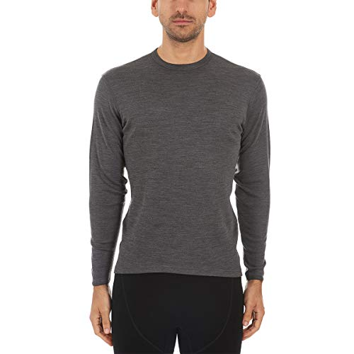 Minus33 100% Merino Wool Base Layer Midweight Grey Crew Neck Medium
