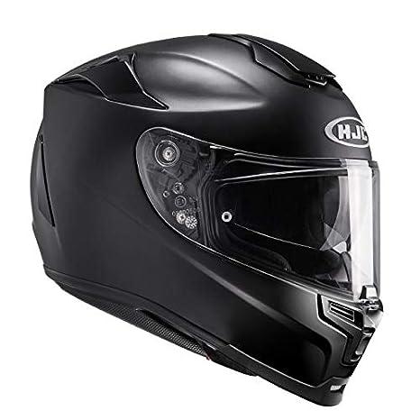 HJC 14307010 Casco de Moto, Semi Flat Negro, Talla XL