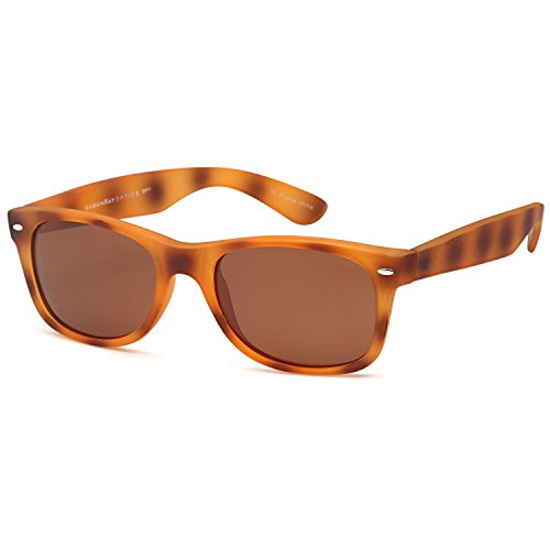 GAMMA RAY CHEATERS Best Value Polarized UV400 Wayfarer Style Sunglasses with Mirror Lens and Multi Pack Options Adult - Brown Lens on Havana Frame