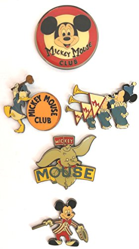 Disney Mickey Mouse Club Rare Ltd Ed 5 Oversized Pin Set with Band Leader Mickey Donald Duck Dumbo - Oversize Pin