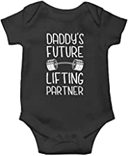 Witty Fashions Daddy Future Lifting Partner - Funny Cute Novelty Infant Creeper, One-Piece Baby Bodysuit