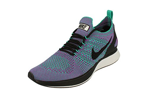 Nike Womens Air Zoom Mariah Flyknit Racer PRM Running Trainers 917658 Sneakers Shoes (UK 6 US 8.5 EU 40, Clear Jade Black Vivid Purple 300) (Nike Zoom Kobe 6)