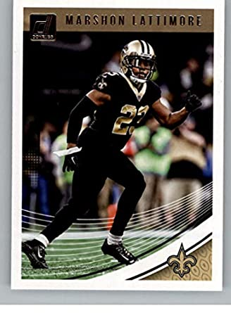 2018 Donruss Football  197 Marshon Lattimore New Orleans Saints Official  NFL Trading Card 5dd4c8709