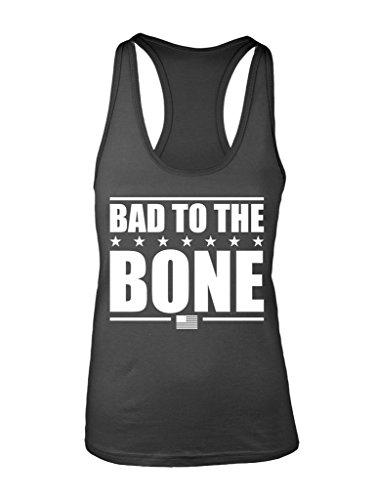 Manateez Women's Ken Bone Bad to the Bone Election 2016 Racer Back Tank Top Small Charcoal (Bones Tank)