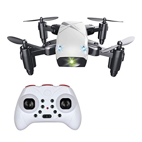Foldable Mini Drone for Kids and Beginners, BOJIANG RC Quadcopter Helicopter Remote Control Toys with Auto Hovering, Headless Mode, 3D Flip and Remote Control-White