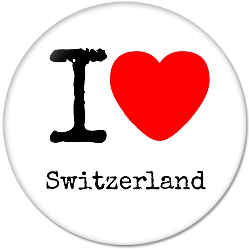 Love Pinback Button (I LOVE Switzerland Pinback Buttons Badges/Pin 2.25 Inch (58mm), New)
