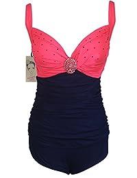 Women's Elegant Swimsuit Trendy One Piece Ruched Swimwear Backless Monokini