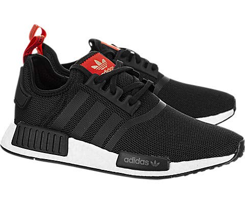 adidas Kid's Sneaker B42087 NMD Black/Red (6M US, Black/Red)
