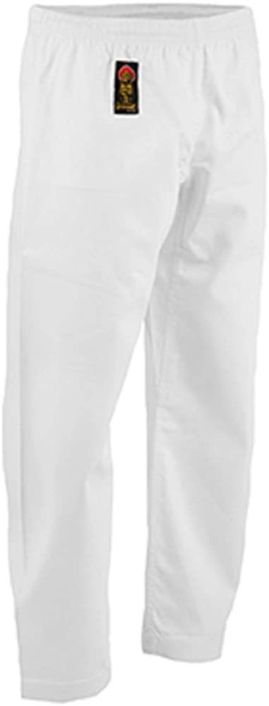 ProForce Gladiator 6oz Karate Pants w//Elastic Waist Size 3 White