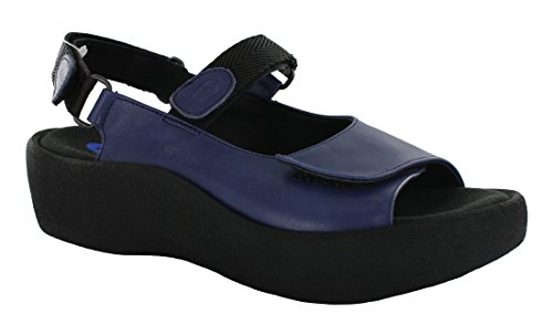 Sandali Comfort Sandali Gioiello In Acciaio Liscio Blu