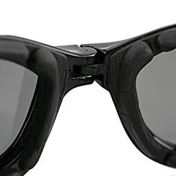 Bobster Crossfire Goggles,Black Frame/Smoked Lens,one size