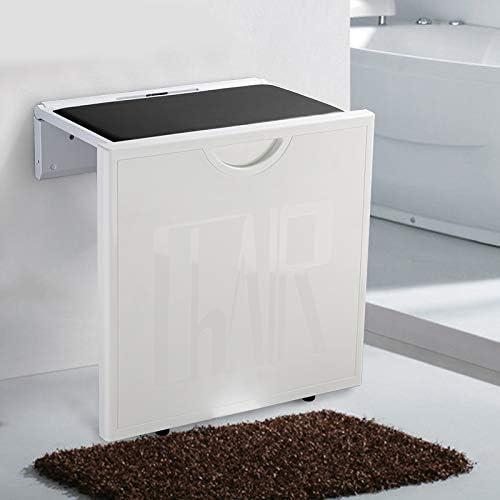 QIAOQ An der Wand befestigter Klapphocker für ältere Duschen-Sitz-Änderungs-Schuh-Schemel rutschfeste Haushalts-Wand-Plastikbank