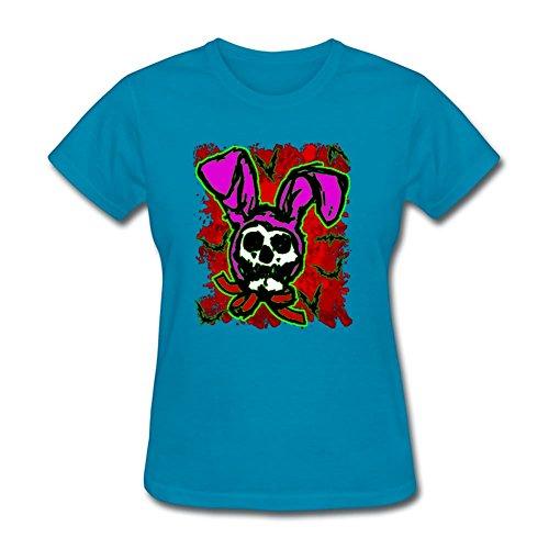 Davidgarza Cool Blue Short-sleeve Customizable X-small Women Psycho Bunny Ltd Edition T Shirt ()