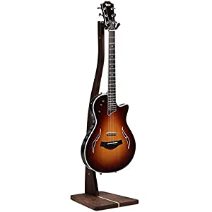 So There Wooden Guitar Stand - Handcrafted Solid Black Walnut Wood Floor Stands Best for Acoustic, Electric and Classical Guitars, Made in USA from So There