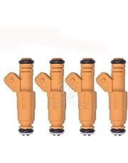 Set of 4 Fuel Injectors for Jeep Cherokee Wrangler 2.5L OEM# 0280155710
