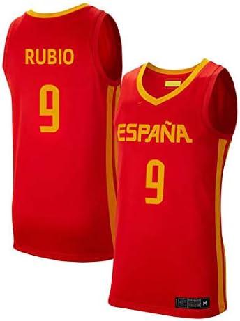K&Q Camiseta Ricky Rubio Selección Española Baloncesto Rojo 2019 Hombre (Rojo, XXL): Amazon.es: Deportes y aire libre