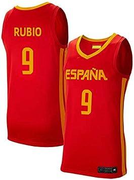 K&Q Camiseta Ricky Rubio Selección Española Baloncesto Rojo 2019 Hombre (Rojo, S): Amazon.es: Deportes y aire libre