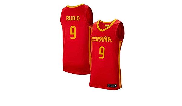 K&Q Camiseta Niño Ricky Rubio Selección Española de Baloncesto Rojo 2019 (Rojo, XL): Amazon.es: Deportes y aire libre