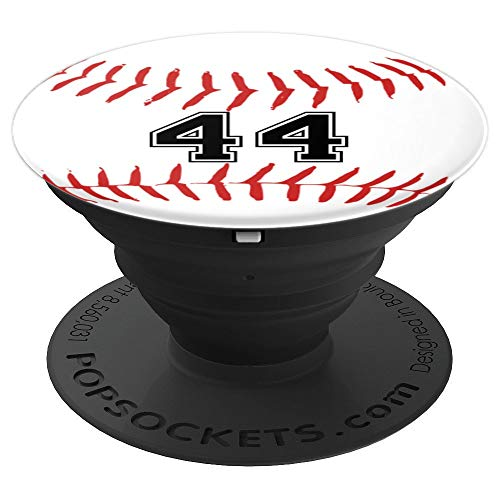 Baseball Player Jersey Number 44 - PopSockets Grip and Stand for Phones and Tablets