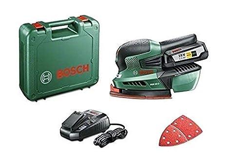 Bosch Home and Garden PSM 18 LI Levigatrice Palmare con Batteria al Litio 18 V