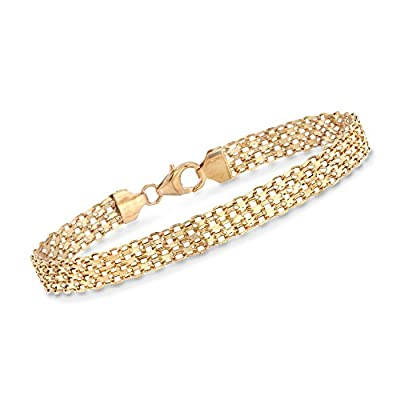 Ross-Simons Italian 18kt Yellow Gold Bismark-Link Bracelet by Ross-Simons