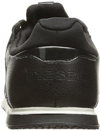 Diesel Mens Remmi-v S-furryy Fashion Sneaker Nero / Argento Scuro