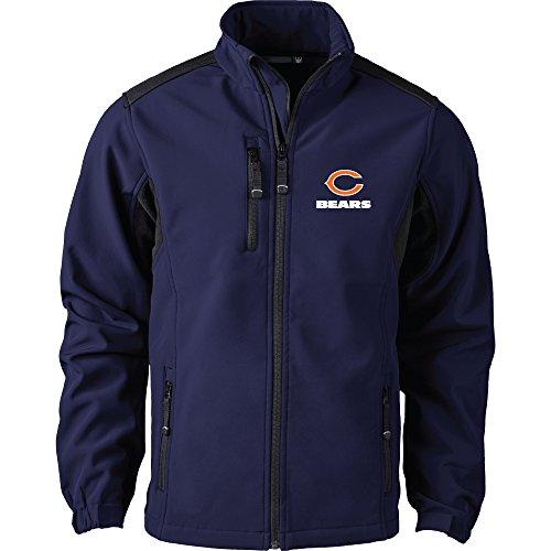 NFL Chicago Bears Men's Softshell Jacket, 2X, Navy Chicago Bears Arm