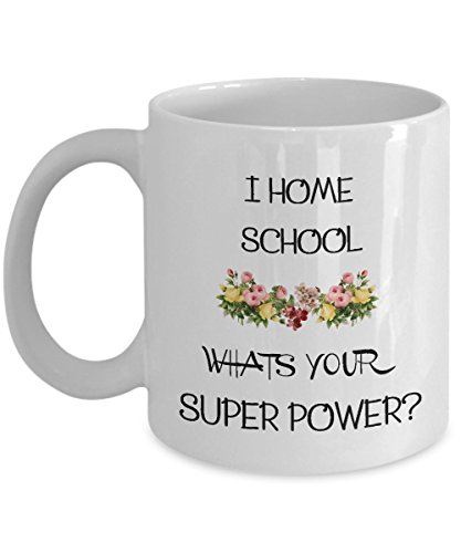 Homeschool, Homeschooling, Home School Mom, I Home School What's Your Superpower, Coffee Mug, Home School, Mugs, Homeschool Decor, Mug