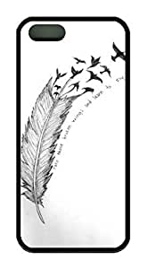 Take Those Broken Wings And Learn To Fly Quote Fether Theme Iphone 5 5S Case TPU Material