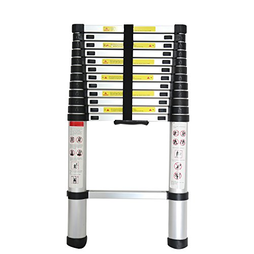 Extend Ladder 12 5 : Hoddmimis metal extension telescopic aluminum ladder