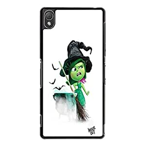 Special Witch Makeup Disgust Character Style Inside Out Phone Case Stylish Cover for Sony Xperia Z3 Cute Cartoon Character