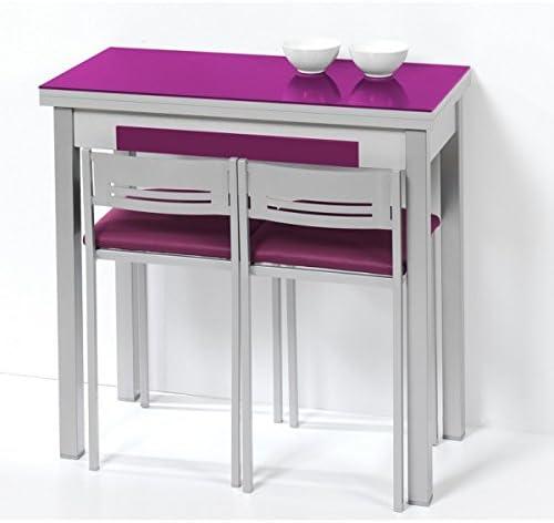 SHIITO Mesa de Cocina de 80x40 cm con Apertura Libro y Tapa de ...