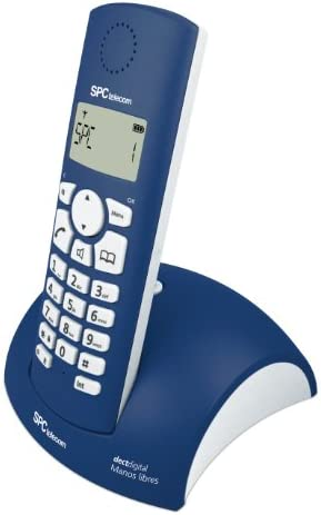 SPC Telecom 7226A - Teléfono fijo digital (inalámbrico, pantalla LCD, control de volumen), azul: Amazon.es: Electrónica