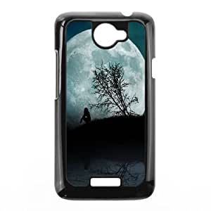 HTC One X Cell Phone Case Black Girl Moon Night Water BNY_6978999