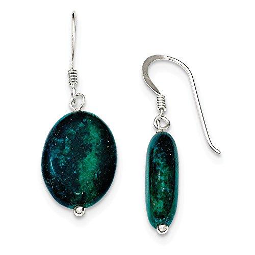 Mia Diamonds 925 Sterling Silver Serpentine Earrings (33mm x (14k Serpentine Earrings)