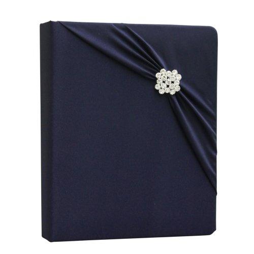 Design Wedding Collection - Ivy Lane Design Garbo Collection Wedding Memory Book, Navy Blue