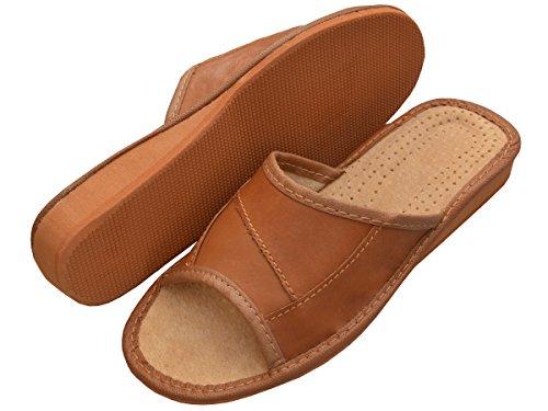 Diversi Xa20 41 Slippers Gomma Suola Marrone 36 Pantofole in Pelle Donne Modelli in Ciabatte Bawal SHqwTRUzpc