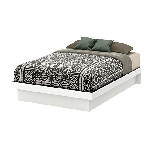 South Shore Basic Platform Bed with Molding, Full 54-Inch, Pure White by South Shore