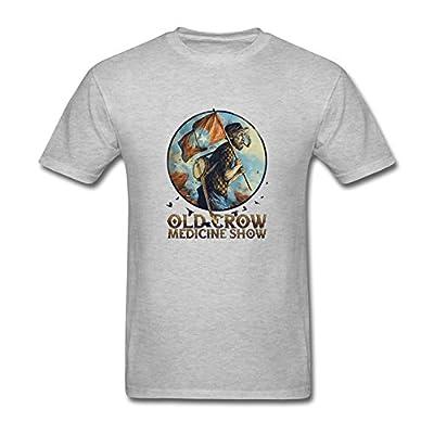 ZHENGXING Men's Old Crow Medicine Show Band Logo T-Shirt S ColorName Short Sleeve