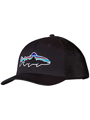 Hat Patagonia Lightweight (Patagonia Fitz Roy Trout Trucker Hat (Black))