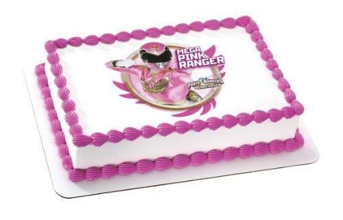 (Mega Pink Power Ranger Edible Image Frosting Sheet Cake Topper Decoration)