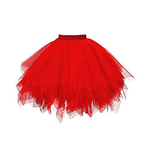 Jupon Mama Ballet Carnaval Femme Halloween Tutu Tulle Rétro Cosplay Stadt Dress Rouge45cm Jupes De Danse Fancy wmvNnO80