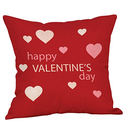 Hot Sale!!Happy Valentine Cushion Cover,Square 18