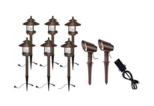 Ledhill Westinghouse Low Voltage Landscape Remington Bronze 8Piece LED Light Set Bronze Color