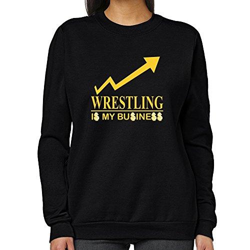 Teeburon Wrestling IS MY BUSINESS Women Sweatshirt by Teeburon
